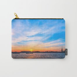 Sunset in a white night Carry-All Pouch