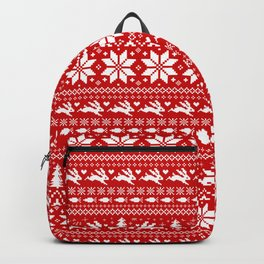 Bunnies Holiday Patterm Backpack