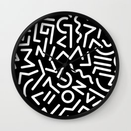 Black and White Memphis Night Wall Clock