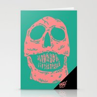 skulls Stationery Cards featuring skulls by Mike Bauer