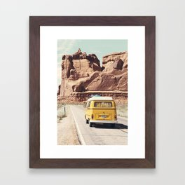 Going on a road trip Framed Art Print