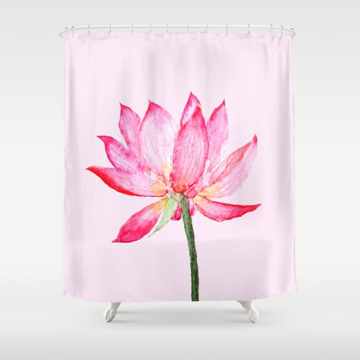 Pink lotus flower shower curtain by colorandcolor society6 pink lotus flower shower curtain mightylinksfo