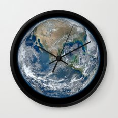 The Blue Marble Wall Clock