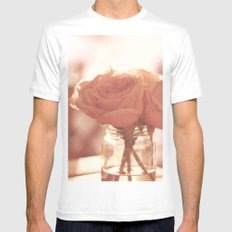 Roses White Mens Fitted Tee MEDIUM