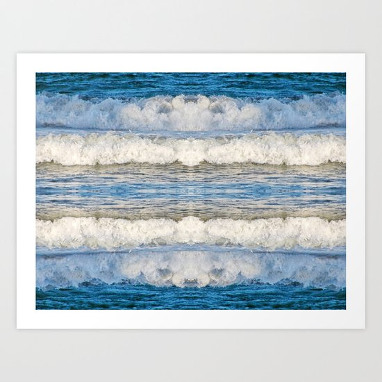 Abstract Waves splashing off the Queensland coast, Australia kaleidoscope Art Print