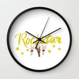 Teacher I Prefer Educational Rock-star Wall Clock