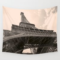 eiffel tower Wall Tapestries featuring Eiffel Tower by ib photography