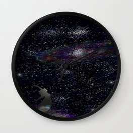 This Life Is Beautiful, With the Colors of The Universe Wall Clock
