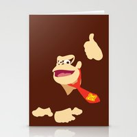 donkey kong Stationery Cards featuring Donkey Kong - Minimalist - Nintendo by Adrian Mentus