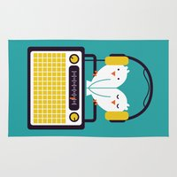 totes Area & Throw Rugs featuring Radio Mode Love by Picomodi