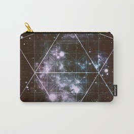 Galaxy Sacred Geometry dark Carry-All Pouch