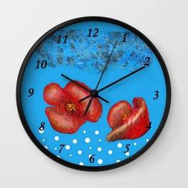 Coquelicot et brume bis Wall Clock