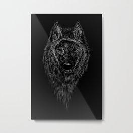 Fenrir Wolf Metal Print
