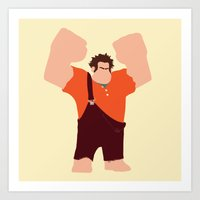 wreck it ralph Art Prints featuring Wreck-It Ralph by George Hatzis