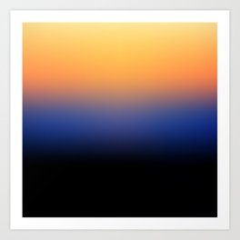Sunset Gradient 6 Art Print