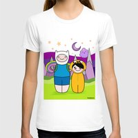 finn and jake T-shirts featuring Kokeshis Finn&Jake by Pendientera