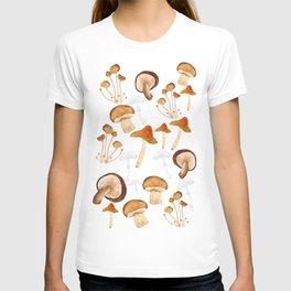 mushroom pattern watercolor painting T-shirt