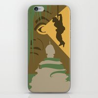 indiana jones iPhone & iPod Skins featuring The Indiana Jones Adventure by Minimalist Magic - Art by Tony Sherg