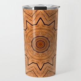 Wooden Wheel of the year of the ring kaleidoscope Travel Mug