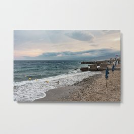 Autumn seascape Metal Print