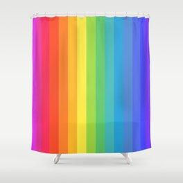 Solid Rainbow Shower Curtain