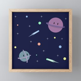 Cute Space Framed Mini Art Print