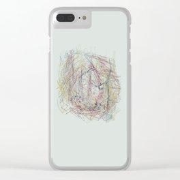 RoseBud Meshwork Clear iPhone Case