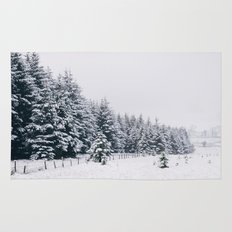 Trees covered in heavy snow. Matterdale End, Cumbria, UK. Rug