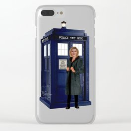 1th Doctor, 4th Doctor, Sarah Jane, K-9 Clear iPhone Case