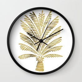 Palm Tree – Gold Palette Wall Clock