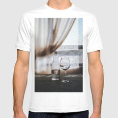 Water MEDIUM White Mens Fitted Tee