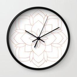 Mandala Rose Gold Pink Art Deco Wall Clock