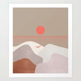 Minimal Sunset 11 Art Print