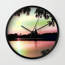Pastel Sunset. Wall Clock