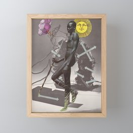 Electric Body Sing (Collage) Framed Mini Art Print