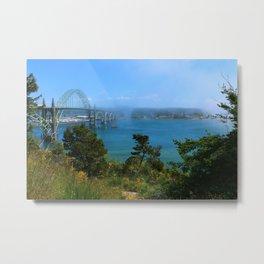 Bridge Over Calm Waters Metal Print