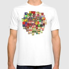 Antique Matchbooks MEDIUM Mens Fitted Tee White