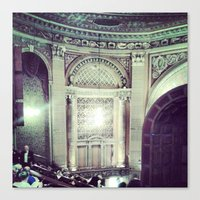 theater Canvas Prints featuring Theater by Christine Eglantine
