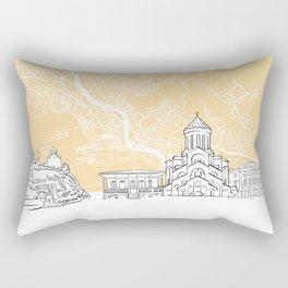 Tbilisi Georgia Skyline Map Rectangular Pillow