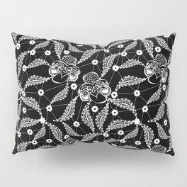 White vintage lace . Pillow Sham