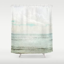 Silvery Seas Shower Curtain