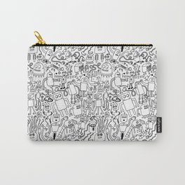 Infinity Robots Black & White Carry-All Pouch