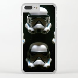 block storm trooper Clear iPhone Case