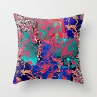 jazz Throw Pillows featuring Jazz by Lara Gurney