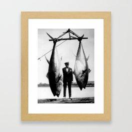 World Record Tuna - Thon record Framed Art Print