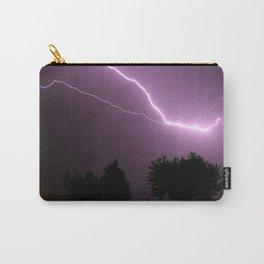 Purple Lightning Night Sky Carry-All Pouch