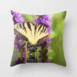 Summertime With Monarch Butterfly Throw Pillow