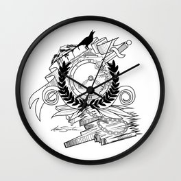 End Of Time - Black & White Wall Clock