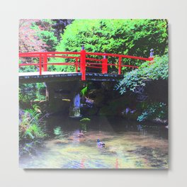Red Bridge 2 Metal Print