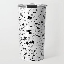 Paint Spatter Black and White Travel Mug